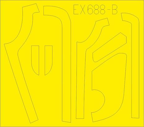 B-17G panely proti oslnění  (výroba VE) 1/48  - 2