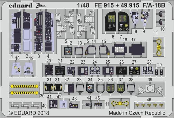 F/A-18B interior 1/48  - 2