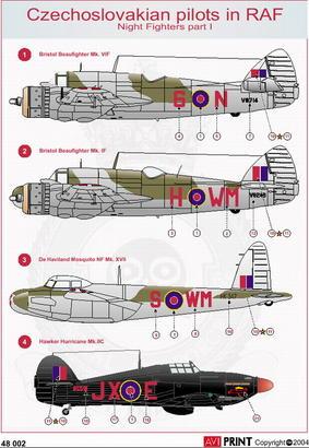 Night Fighters Pt.1 - Czechoslovakian pilot in RAF 1/72  - 2