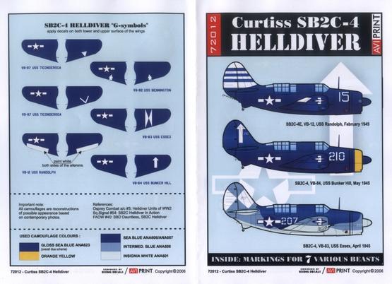 Curtiss SB2C-4 Helldiver 1/72  - 2