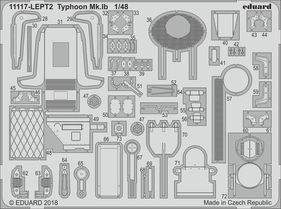 Typhoon Mk.Ib PE-set 1/48  - 2