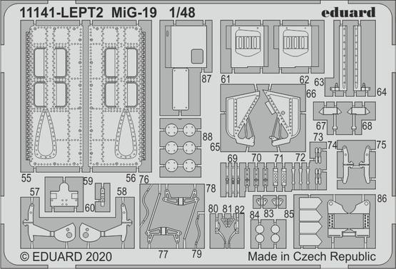 MiG-19 PE-set 1/48  - 2
