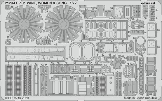 WINE, WOMEN & SONG PE-set 1/72  - 2