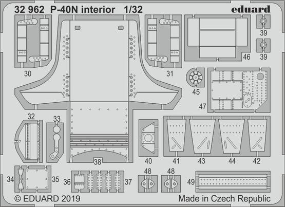 P-40N interior 1/32  - 2