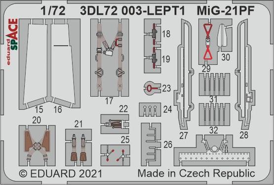 MiG-21PF SPACE 1/72  - 2