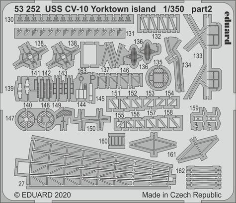 USS CV-10 Yorktown island 1/350  - 2
