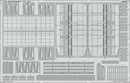 B-52 vztlakové klapky 1/72  - 2