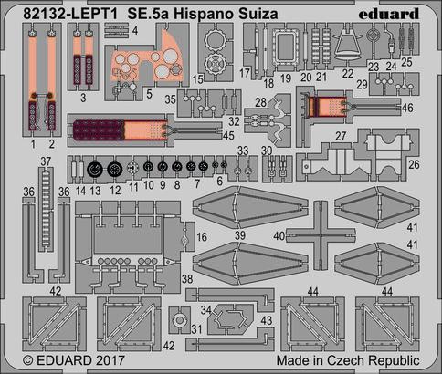 SE.5a Nightfighter PE-set 1/48  - 2