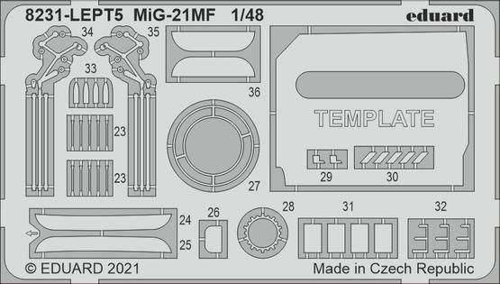 MiG-21MF PE-set 1/48  - 2