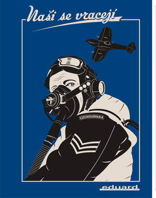 "T-shirt Spitfire pilot ""Nasi se vraceji"" (XL)  - 2"