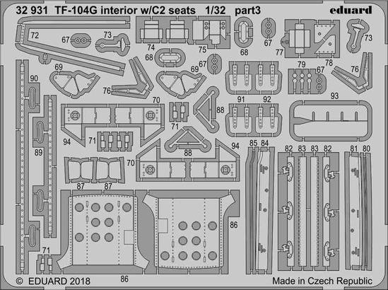 TF-104G interior w/C2 seats 1/32  - 3