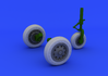 F-104 undercarriage wheels early  1/32 1/32 - 3/5