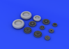 F-104 undercarriage wheels late 1/32 - 3/4