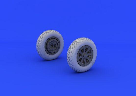 F4U-1 wheels diamond pattern 1/32  - 3