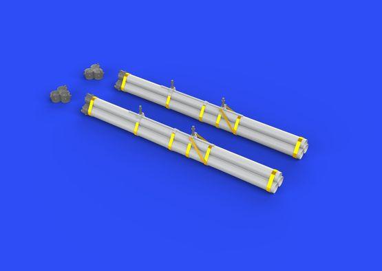 Bazooka rocket launchers for P-40 1/32  - 3