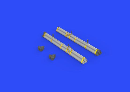 Bazooka rocket launchers for P-47 1/32  - 3