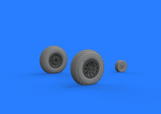 P-51D wheels 1/32  - 3