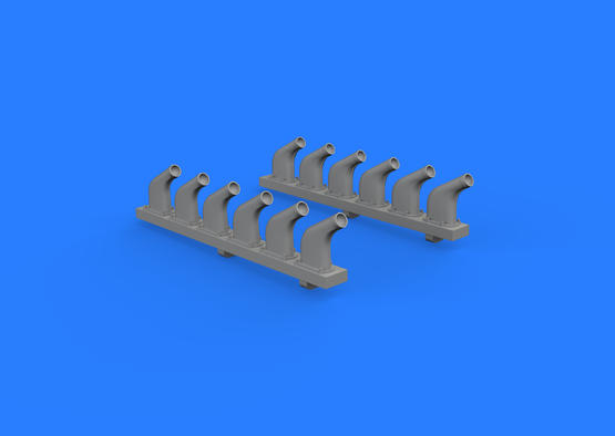 P-51D exhaust stacks 1/32  - 3