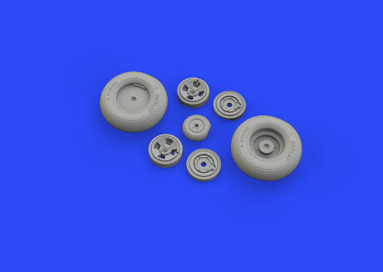 Spitfire Mk.IX wheels 4 spoke w/smooth tire 1/32  - 3