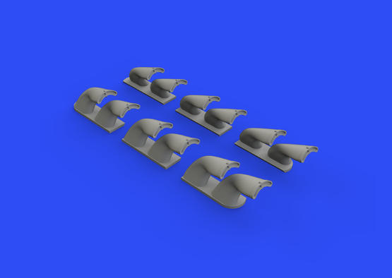 P-40 exhaust stacks fishtail 1/32  - 3