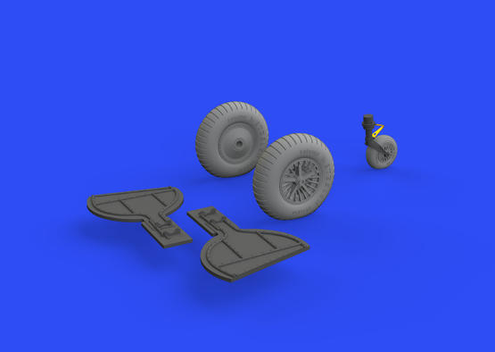 Bf 108 wheels spoked 1/32  - 3