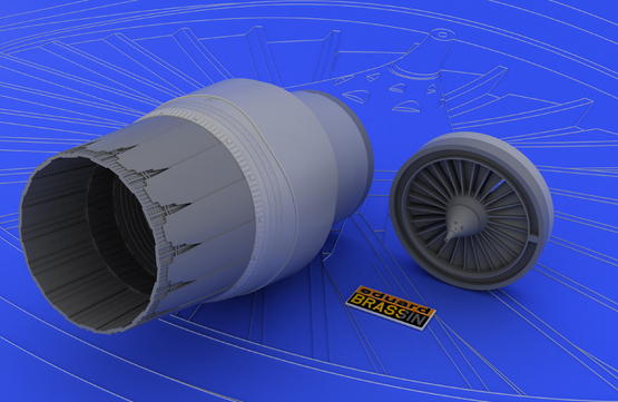 F-16CJ Block 52 engine 1/48  - 3