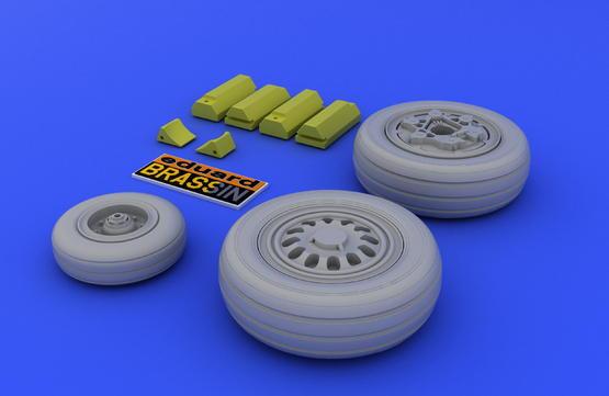 F-16 late wheels 1/48  - 3