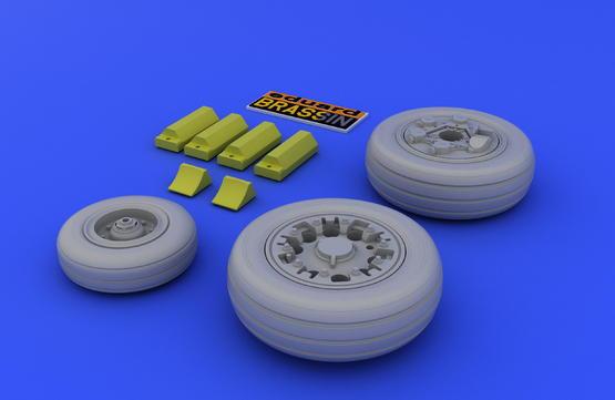 F-16A/B wheels 1/48  - 3