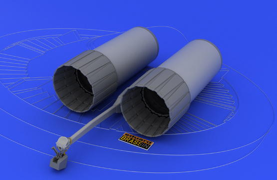 F-4 exhaust nozzles late  1/48 1/48  - 3
