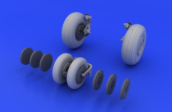 MiG-29 wheels 1/48  - 3