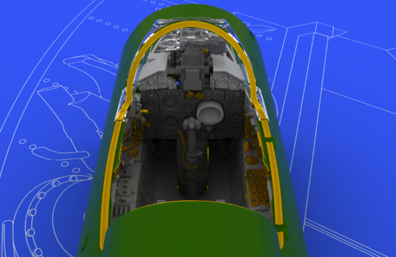 MiG-21BIS interior 1/48  - 3