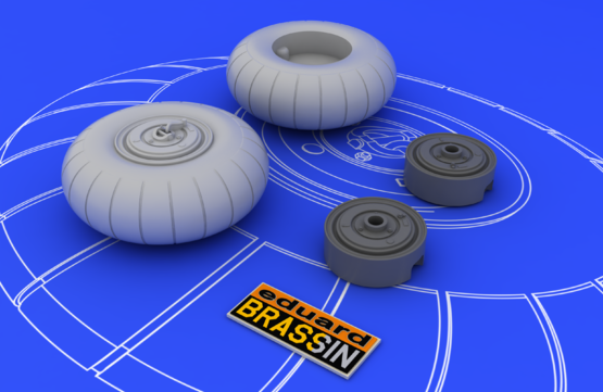 Bf 110 C/D main undercarriage wheels 1/48  - 3