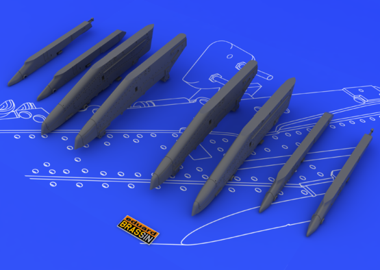 Su-25K wing pylons 1/48  - 3
