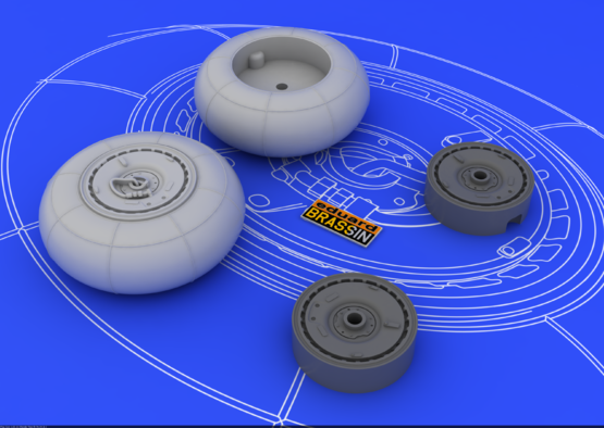 Bf 110 E/F/G main undercarriage wheels 1/48  - 3
