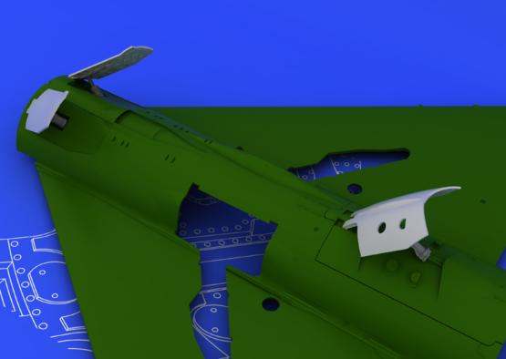 MiG-21 brzdící štíty pozdní verze 1/48  - 3
