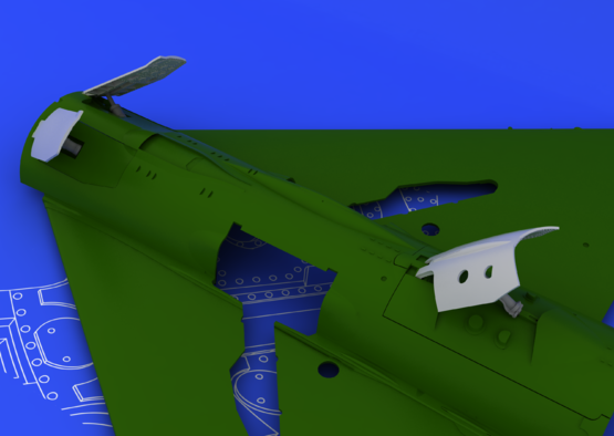 MiG-21 late airbrakes 1/48  - 3