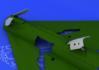 MiG-21 brzdící štíty pozdní verze 1/48 - 3/4