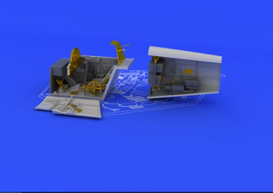 Bf 109E コクピットと 無線機 1/48  - 3