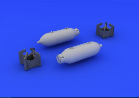 US 250lb bombs (2 pcs) 1/48  - 3