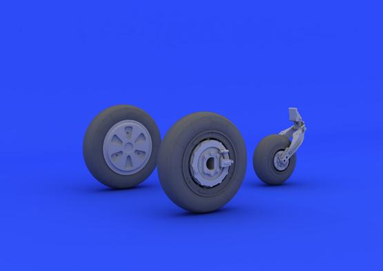 МиГ-21ПФМ колеса 1/48  - 3