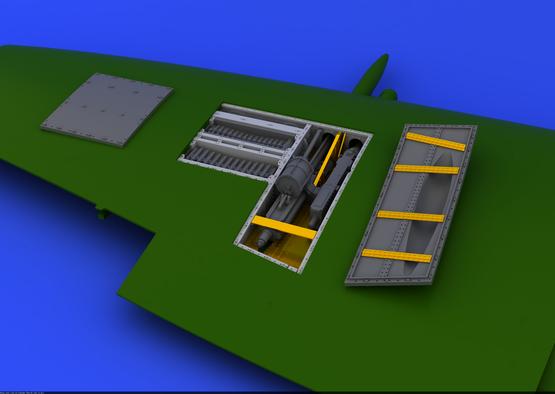 Spitfire Mk.IX zbraňová šachta 1/48  - 3
