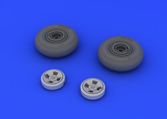 Spitfire wheels - 4 spoke 1/48  - 3