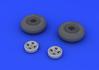Spitfire колеса - 4-спицевые 1/48 - 3/3
