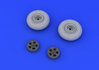 Spitfire wheels - 5 spoke, smooth tire 1/48 - 3/4