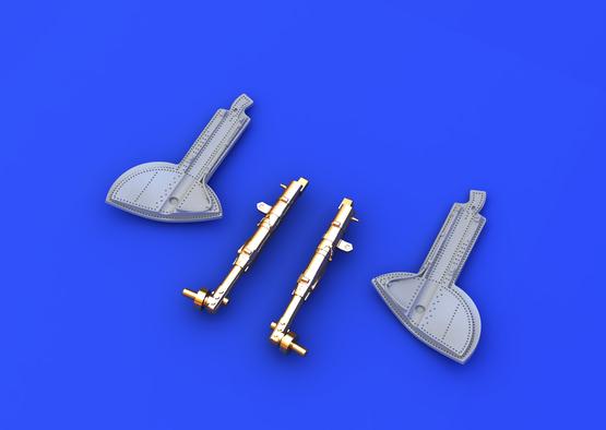 Spitfire podvozkové nohy bronzové 1/48  - 3