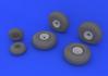 B-29 wheels 1/48 - 3/4