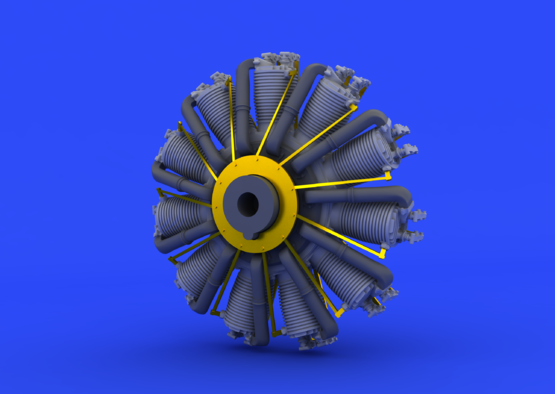 SSW D.III motor 1/48  - 3