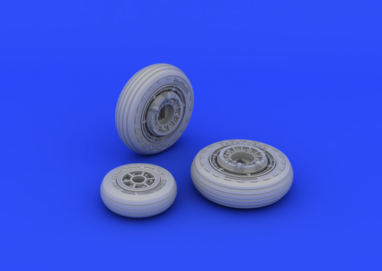 F-104 undercarriage wheels early 1/48  - 3