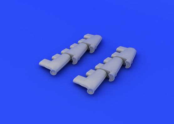 Spitfire Mk.V exhaust stacks 1/48  - 3