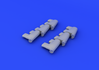 Spitfire Mk.V exhaust stacks 1/48 - 3/5